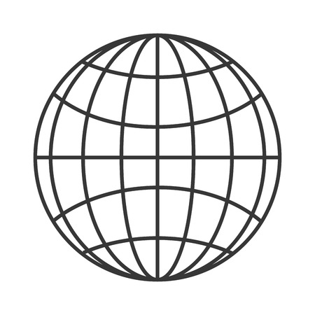 flat design earth globe diagram icon vector illustration Banco de Imagens - 61116721