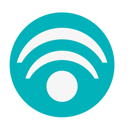 flat design wifi signal icon vector illustration