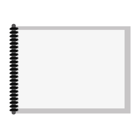 scribbling: flat design wired notebook icon vector illustration Illustration