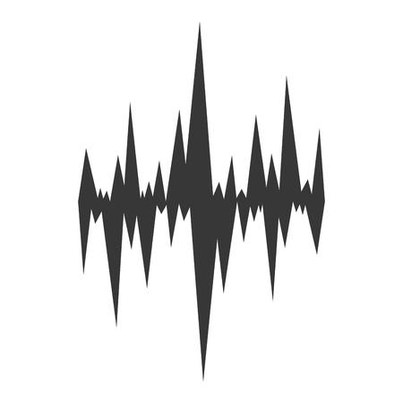 soundwave: flat design music soundwave icon vector illustration