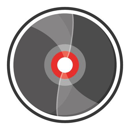 vinyl record: flat design vinyl record icon vector illustration