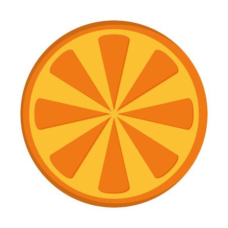 flat design orange half icon vector illustration