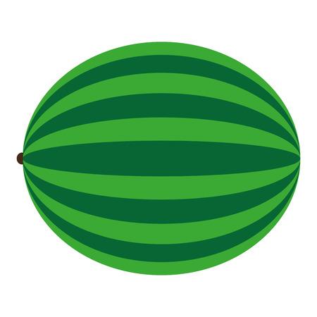 flat design whole watermelon icon vector illustration