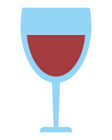 winetasting: flat design glass of wine icon vector illustration