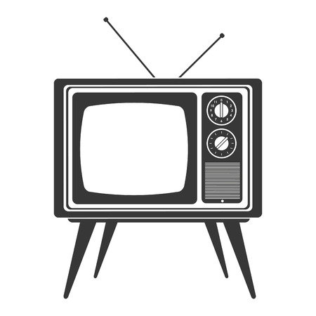 outmoded: flat design retro classic tv with antenna icon vector illustration