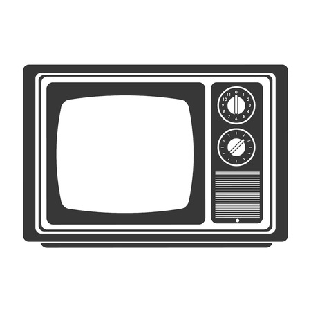 outmoded: flat design retro classic tv icon vector illustration