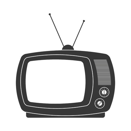 viewer: flat design retro classic tv with antenna icon vector illustration