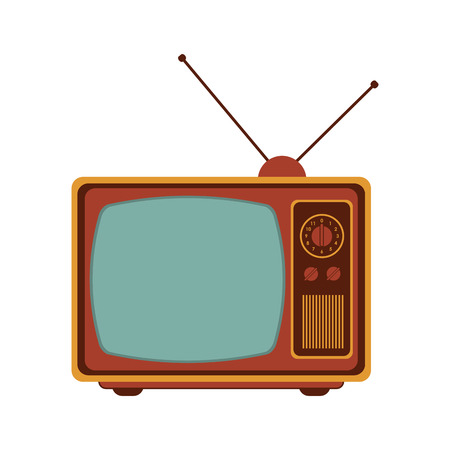 the outmoded: flat design retro classic tv with antenna icon vector illustration