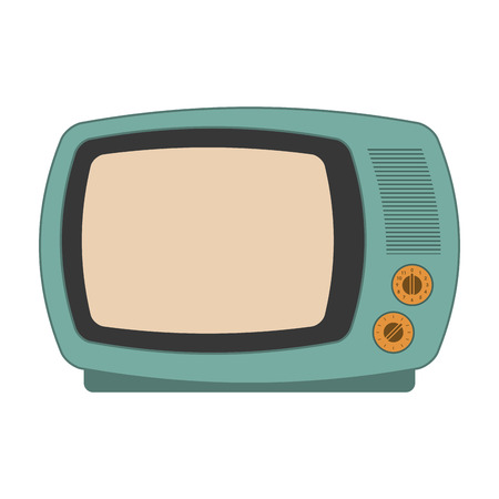 the outmoded: flat design retro classic tv icon vector illustration