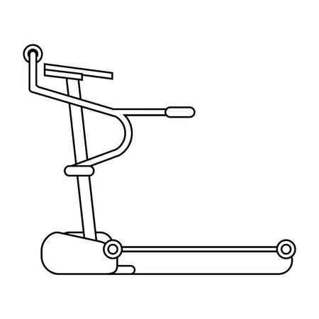 flat design single treadmill icon vector illustration Illustration