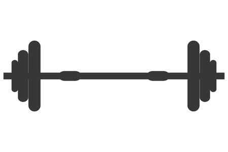 barbel: flat design single barbell icon vector illustration