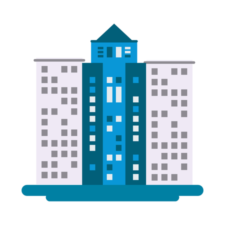 midtown: flat design tall building icon vector illustration