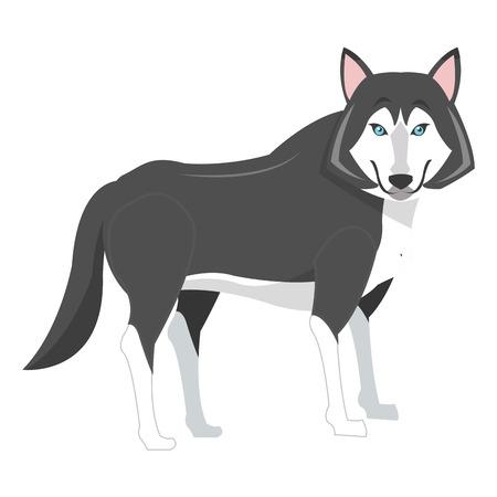 flat design big wolf icon illustration Illustration