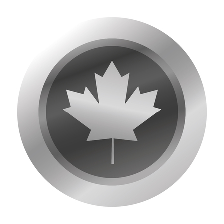 canadian icon: flat design canadian badge icon illustration Illustration