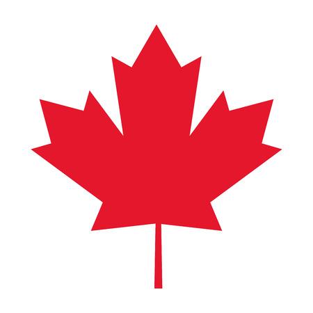 maple leaf icon: flat design canada flag maple leaf icon illustration