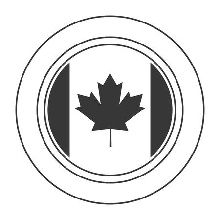 canadian: flat design canadian badge icon vector illustration