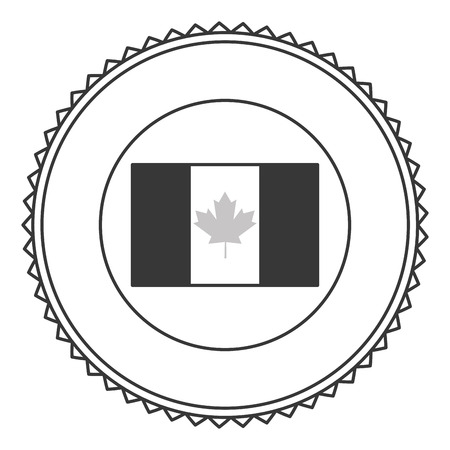 canadian icon: flat design canadian badge icon vector illustration