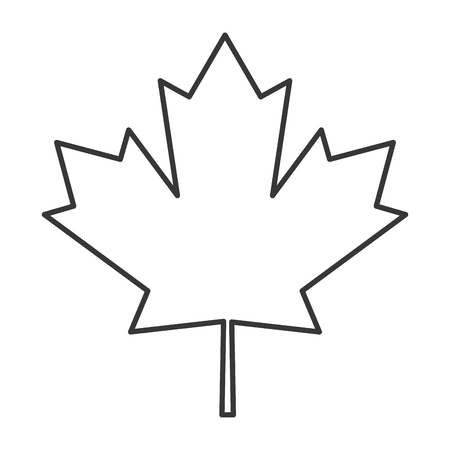 flat design canada flag maple leaf icon vector illustration