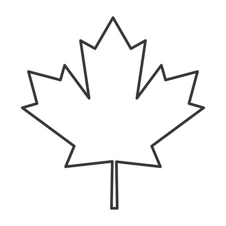 maple leaf icon: flat design canada flag maple leaf icon vector illustration