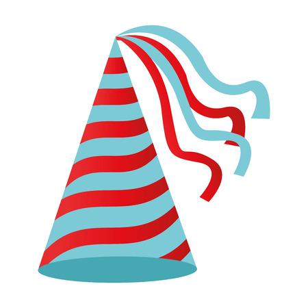 flat design birthday hat icon vector illustration