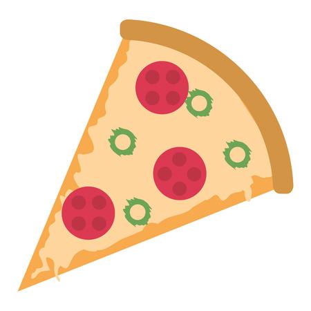 design plat tranche de pizza icône illustration vectorielle