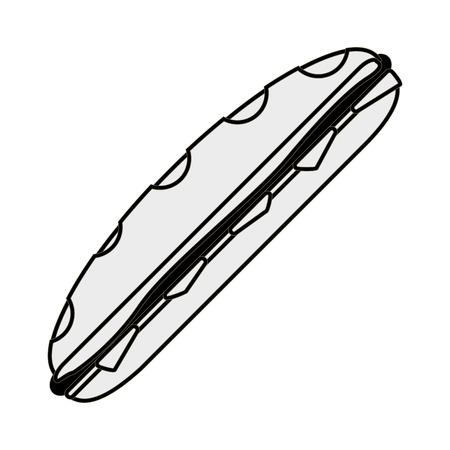 sub menu: flat design sub sandwich icon vector illustration Illustration