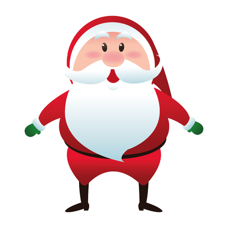 white bacjground: flat design santa claus icon vector illustration
