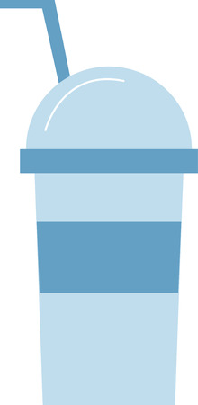 aerated: flat designn cold drink cup icon vector illustration