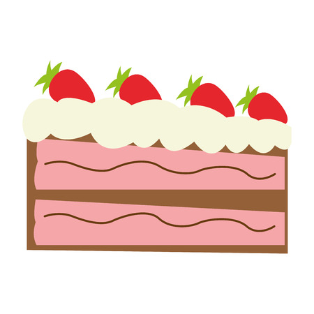 dessert buffet: flat design piece of cake icon vector illustration Illustration