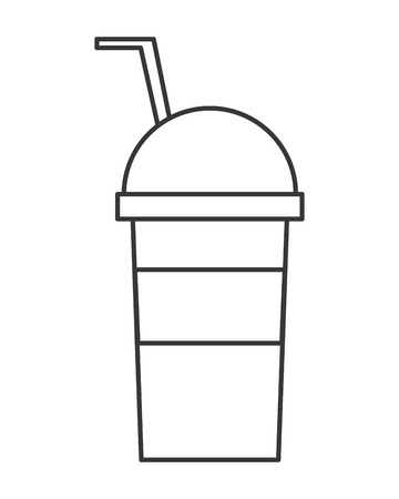 cold drink: flat designn cold drink cup icon vector illustration