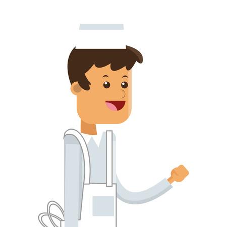 flat design ice cream vendor icon vector illustration Illustration