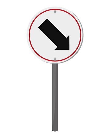 flat design traffic sign icon vector illustration Illustration