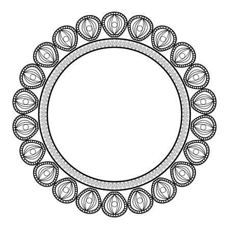 interlinked: flat design decorated badge icon vector illustration Illustration