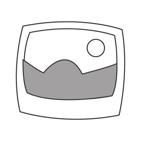 photograph: flat design landscape photograph icon vector illustration