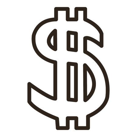 dollar sign icon: flat design dollar sign icon vector illustration Illustration