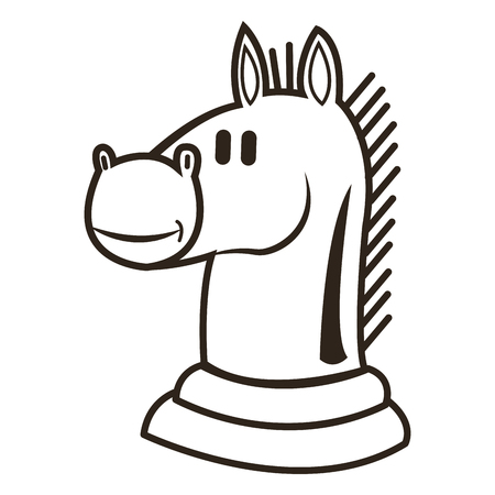 king master: flat design knight chess piece icon vector illustration