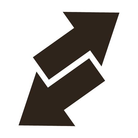ways: flat design arrows opposite ways icon vector illustration