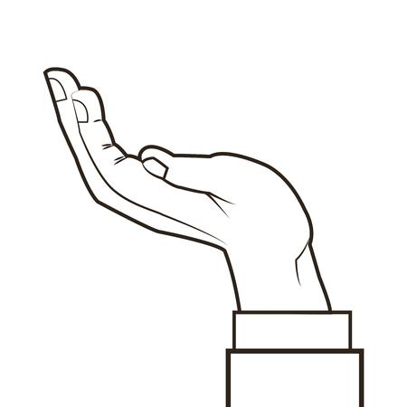 gesticulation: flat design human hand icon vector illustration