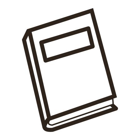 closed book: flat design closed book icon vector illustration