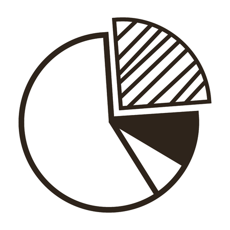 pie chart icon: flat design pie chart icon vector illustration