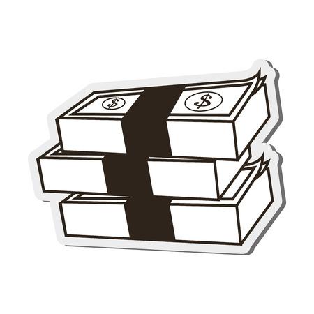 dollar bills: flat design dollar bills icon vector illustration Illustration