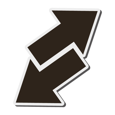 opposite arrows: flat design arrows opposite ways icon vector illustration