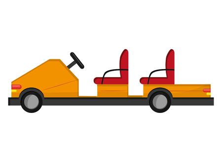 flat design electric airport passenger car icon vector illustration