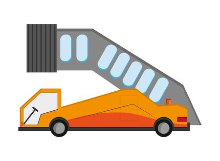 ramp: flat design airport ramp icon vector illustration Illustration