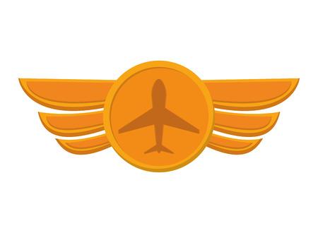 aeronautic: flat design aeronautical emblem icon vector illustration