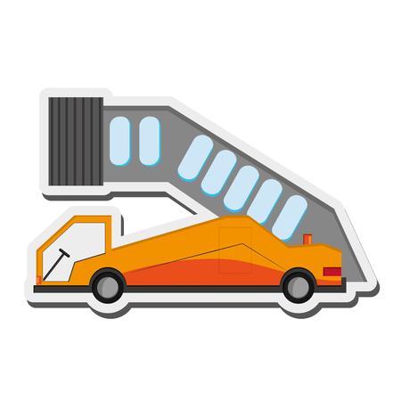 flat design airport ramp icon vector illustration Ilustração