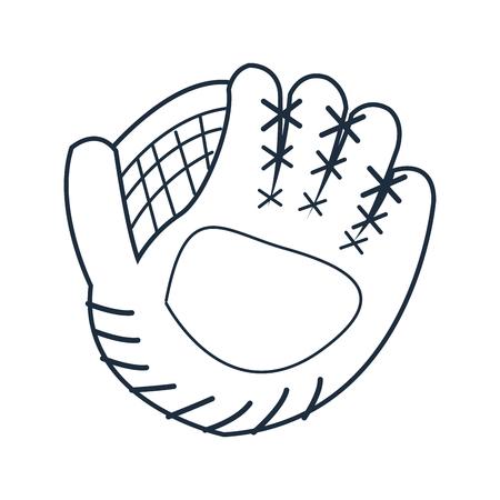 flat design baseball glove icon vector illustration Illustration