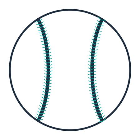 inning: flat design single baseball icon vector illustration