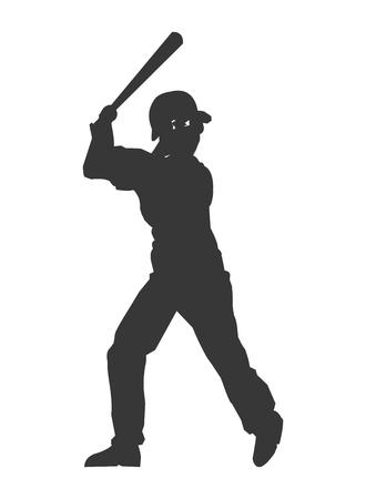 flat design baseball player icon vector illustration Illustration