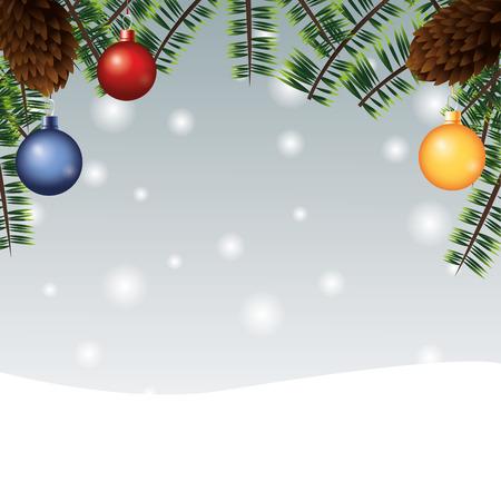 Esfera Hojas Decoración Alegre Celebración De Las Fiestas De Navidad ...